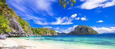 Tropical scenery of Palawan Stock Photo
