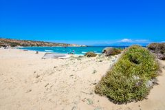 The tropical and scenic nudist beach of Sarakiniko on Gavdos island. The tropical and scenic nudist beach of Sarakiniko on Gavdos island, Greece royalty free stock photos