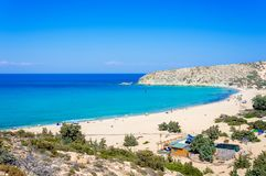 The tropical and scenic nudist beach of Sarakiniko on Gavdos island. The tropical and scenic nudist beach of Sarakiniko on Gavdos island, Greece royalty free stock photo