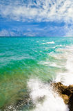 Tropical sea. Nice tropical background from the coastline of Spain Stock Photography