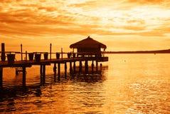 Tropical sea. Amazing sunset over tropical sea Stock Photo
