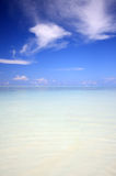 Tropical sea. Under a blue sky Royalty Free Stock Images