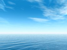 Tropical sea. 3d sky and sea Royalty Free Stock Photos