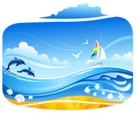 Tropical sea background Stock Images