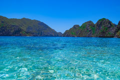 Tropical sea bay and mountain islands. El Nido, Palawan, Philippines Stock Photography