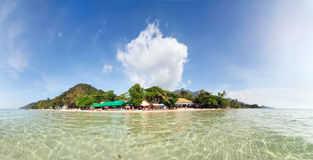 Tropical sea and beach panorama Stock Photo