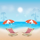 Tropical sea and beach Stock Photography