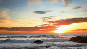 Tropical sea at beautiful sunset stock video footage