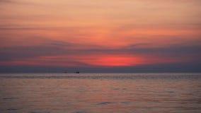 Tropical sea at beautiful sunset stock footage