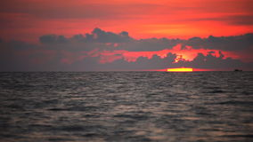 Tropical sea at beautiful sunset. Nature background stock footage