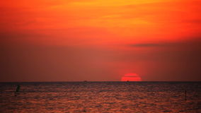 Tropical sea at beautiful sunset stock video