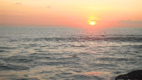 Tropical sea at beautiful sunset. Nature background. Fast motion stock footage