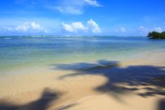 Tropical sea and blue sky. Royalty Free Stock Photography