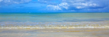 Tropical sea and blue sky background. Sommer ocean landscape as background. Beautiful caribbean sea and blue sky. Sommer ocean landscape as background royalty free stock image