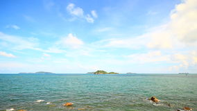 Tropical Sea with blue sky. Chumphon Thailand stock video footage