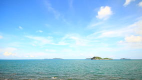 Tropical Sea with blue sky. Chumphon Thailand stock footage