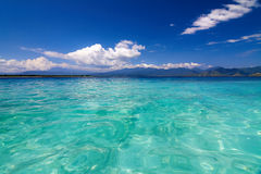 Tropical sea and blue sky with white clouds Stock Photography