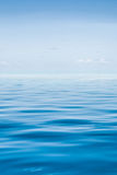 The tropical sea with blue water Royalty Free Stock Photography