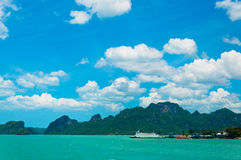 Tropical sea and coast near Koh Samui Stock Image