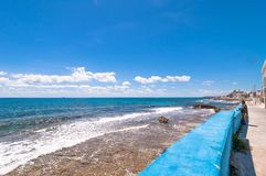 Tropical sea and coastline in Isla Mujeres, Mexico Royalty Free Stock Image