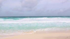 Tropical sea coastline at La Dique, Seychelles. Island stock video footage