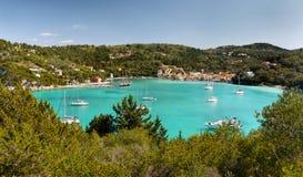 Tropical sea, Exotic Holidays. A beautiful azure lagoon - Exotic Holidays. Paxos island Royalty Free Stock Photography