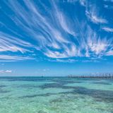 Tropical sea in Isla Mujeres, Mexico Royalty Free Stock Photo