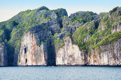 Tropic sea island rocks. Tropical sea island rock, Thailand krabi shore line, sand stock photography
