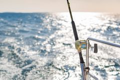 Tropical sea and island view from boat and fishing in shallow tropical sea stock images