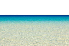 Tropical sea isolated on white Royalty Free Stock Images
