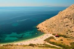 Tropical sea. Landscape in Croatia Royalty Free Stock Image