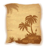 Tropical Sea Landscape with Palm Trees Royalty Free Stock Photo