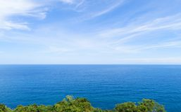 Tropical sea with leaves frame in summer season in phuket thaila Royalty Free Stock Photo