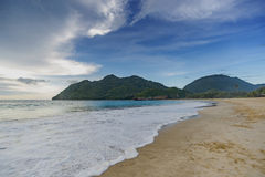 Tropical sea with mountain view Royalty Free Stock Photography