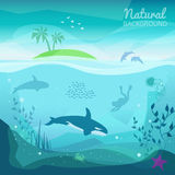 Tropical sea natural background royalty free illustration