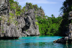 Tropical sea in Palawan, Philippines Royalty Free Stock Images