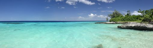 Tropical sea panorama. A panoramic view of tropical sea in Cuba Stock Images