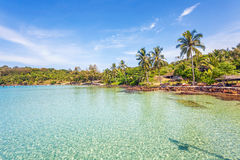 Tropical sea panorama Royalty Free Stock Photo
