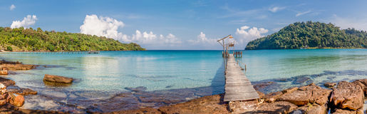 Tropical sea panorama Royalty Free Stock Image