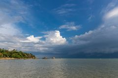 Tropical sea at Paradise island and stormy blue sky in Koh Samui, Thailand. Tropical sea at Paradise island and stormy blue sky in Koh Samui royalty free stock photography