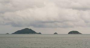 Tropical sea in rainy day Stock Photo