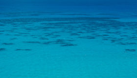 Tropical Sea. A tropical sea with a reef visible Royalty Free Stock Photos