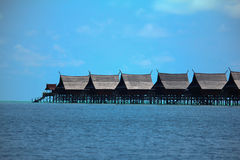 Tropical sea resort Royalty Free Stock Photos
