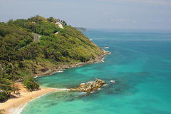 Tropical sea scenery. Panoramic composition in very high resolut Royalty Free Stock Photo
