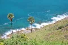 Tropical sea scenery. Panoramic composition in very high resolut Royalty Free Stock Image