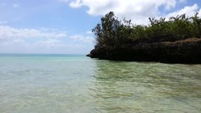 Tropical Sea. Slight movement of waves at a tropical sea stock footage