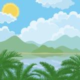 Tropical sea summer landscape Stock Photos