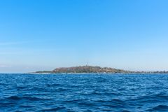 Tropical sea at sunny day of Gili Trawangan island. Lombok, Indonesia.  Stock Image