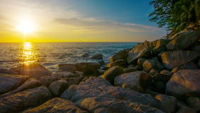 Tropical sea at sunset. Thailand, Kamala Beach stock video