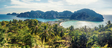 Tropic Phi-Phi siland sea view. Tropical sea view,Thailand phi-phi island panorama may bay stock photography